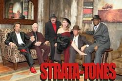 SMOKIN'! :  The hot licks and sultry lyrics of the Strata-tones—an old-school, funky blues band—are guaranteed to heat up your holiday season on Dec. 23 at the Pour House in Paso Robles. - PHOTO COURTESY OF RICK PITTMAN