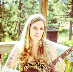 SWEETHEART OF THE BANJO:  Erin Inglish will bring her banjo magic to Sculpterra Winery on Jan. 5. - PHOTO COURTESY OF ERIN INGLISH