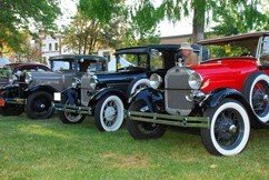 LOOK BUT DON'T TOUCH! :  Classic cars from the '20s through the '50s, like these beauties form the roaring '20, will also be on display from 4 to 9 p.m. - PHOTO COURTESY OF THE PASO ROBLES MAIN STREET ASSOCIATION