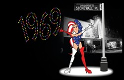 """WE'RE HERE, WE'RE QUEER:  """"The last thing you want is an angry drag queen after you,"""" sings the narrator of TDA Animation's Sufferin' Till You're Straight. The short film is part of a series inspired by Schoolhouse Rock. - COURTESY OF DAVID SCHEVE"""