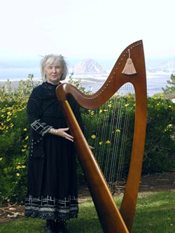SHE'LL SEND YOU :  Celtic harpist Valerie Cardill and her lovely, lilting, ethereal voice and dulcet harp sounds will transport you to a magic place where all your cares will melt away, June 27 at Coalesce Bookstore. - PHOTO COURTESY OF VALERIE CARDILL