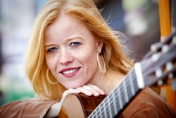 GUITARISTA! :  Coalesce Bookstore and the Central Coast Guitar Society present a night of classical guitar with German-born guitarist Eva Beneke on May 31. - PHOTO COURTESY OF EVA BENEKE