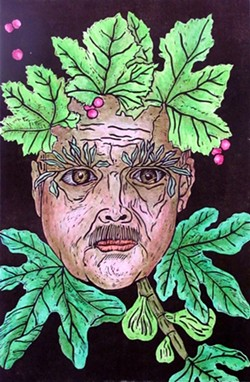 AN ITALIAN GREEN MAN :  Robert Simola - PHOTO COURTESY OF STUDIOS ON THE PARK