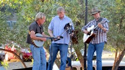 REAL AMERICANS :  On July 7, the Old-Time Fiddle and Banjo Show will play bluegrass, country, and acoustic Americana music at Haven Wine Bistro on their outdoor patio. - PHOTO BY ROZ PHILLIPS