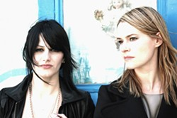 FOR THE LOVE OF MUSIC :  Camila Grey (left) and Leisha Hailey are Uh Huh Her, an electro-pop dup playing July 29 at SLO Brew. - PHOTO COURTESY OF UN HUH HER
