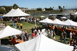 MAC ATTACK:  An estimated 3,000 hungry cheese lovers got their mac on at the third annual Mac and Cheese Festival, originally held in Paso Robles. This year marked the first for the festival's new location, which offered a scenic coastal view, cool breezes, and plenty of excess calories. - PHOTO BY REID CAIN