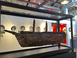TAKEN:  This piece, 'Slave Ship,' was created by David Settino Scott in San Miguel, in memory of James Bird Jr. - PHOTO COURTESEY OF STUDIOS ON THE PARK