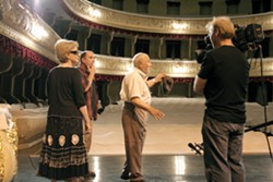 """HOMECOMING :  The film crew documents """"Botso"""" Korisheli's visit to a theater in his native country, Georgia. - PHOTO COURTESY OF CINEMA HOUSE FILMS"""