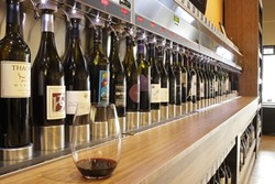 WINE UPON WINE :  Nearly 50 Paso Robles wines are available by the glass at Paso Wine Centre, including artisan brands with very limited production. - PHOTO BY STEVE E. MILLER