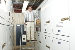 CHILLED OUT :  Aaron Steed, CEO of Meathead Movers, has become a bit of a wine connoisseur himself in recent years, prompting him to begin offering private, personal wine storage at his San Luis Obispo facility. - PHOTO BY STEVE E. MILLER