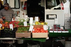 REUNITED :  Venders at SLO farmers' market are once again represented by their own association - PHOTO BY STEVE E. MILLER