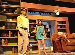 IF THE SHOE FITS:  In 'Spike Heels,' Christina Garcia (right) plays Georgie, a brazen young woman who's fallen for her mentor and neighbor, Andrew (Jacob Corsaro, left). - PHOTO BY JESSICA PEÑA
