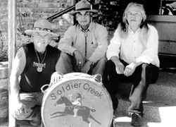 INDIAN GUIDES :  Native American drummers Soldier Creek play the next Red Barn Community Music Series this Nov. 1 at the Red Barn in the South Bay Community Park in Los Osos. - PHOTO COURTESY OF SOLDIER CREEK
