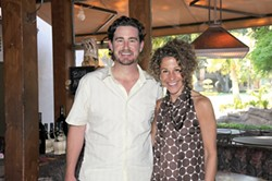 A FINE PAIR :  Treana winemaker Austin Hope provided the cellar selections for a seminar by author Laura Werlin - KATHY MARCKS HARDESTY