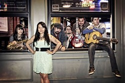 MASH-UP:  Latin cumbia, reggae, ska, African, Middle Eastern, and flamenco—Alarma mashes all the sounds on Dec. 15 at Frog and Peach. - PHOTO COURTESY OF ALARMA