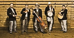 BLUEGRASS, BABY!:  Oly Mountain Boys bring their bluegrass to California for the first time with shows on Feb. 14 (Paso Robles Brewing), Feb. 15 (Castoro Cellars), and Feb. 16 (Morro Bay Vets Hall and Frog and Peach). - PHOTO BY JIM OAS