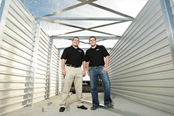 MOVING FORWARD :  Aaron Steed (left) and his brother Evan are about to open a state-of-the-art storage complex five minutes from downtown SLO. - PHOTO BY STEVE E. MILLER