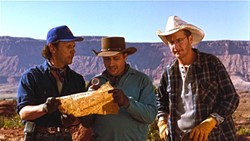 HIDDEN TREASURE:  Billy Crystal (far left) stars at Mitch Robbins in the 1994 comedy 'City Slickers II' that featured SLO Jewish Film Festival 2015 guest of honor, David Stone, as supervising sound editor. - PHOTO COURTESY OF COLUMBIA PICTURES