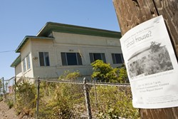 SCHOOL'S OUT FOREVER :  You won't hear the screams of schoolchildren anymore at the Avila Beach Schoolhouse, but a group of residents hope to restore the century-old building to its original state. - PHOTO BY STEVE E. MILLER