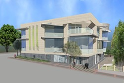 DARING :  The proposed SLO Art Center breaks with downtown convention - GRAPHIC COURTESY OF SLO ART CENTER