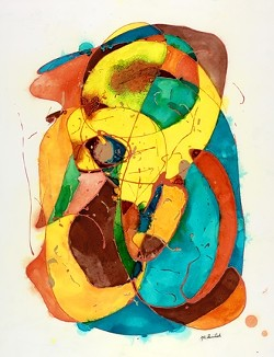 """THOUGHT BUBBLE:  In """"Cognition,"""" Burdick highlights the complexity of the mental process. - IMAGE BY MARGARET BURDICK"""