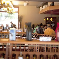 WINNING VINTAGE :  The name may have changed from Monterey St. Wine Company to Vintage 1255, but this wine shop continues its winning streak as best wine shop in the county. - PHOTO BY STEVE E. MILLER