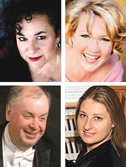 """CLASSIC NEW YEAR'S!:  Brynn Albanese, Sarah Kleeman, Terrence Spiller, and Katya Gordiner-McMahan will perform """"New Year's Eve POPS with the Symphony!"""" at the Christopher Cohan Center, on Dec. 31. - PHOTO COURTESY OF SLO SYMPHONY"""
