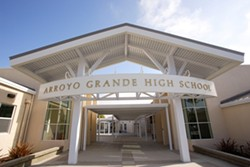 THE AFTER SHOT :  The renovated Arroyo Grande High School campus feels chic and modern – as a top-rated school in 2008 should. - PHOTO BY STEVE E. MILLER