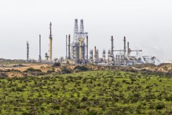 NIPOMO JUNCTION:  The rousing debate over a proposal to bring crude oil by rail to the Phillips 66 Santa Maria Refinery in - Nipomo (pictured) looms large on the national and local political stages. - PHOTO BY KAORI FUNAHASHI