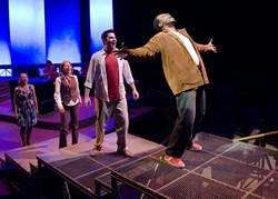 FANTASTIC 4 :  Jerry Lee offers an astounding voice as Man 2, but is it enough to overcome stereotypical lyrics? - PHOTOS BY CLINT BERSUCH