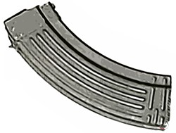 THE MAGAZINE :  California's law only allows 10-round magazines, not larger ones such as this one.