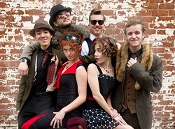 PARTY TIME! :  Youthful, awesome, infectious Gypsy jazz act Red Skunk will once again host its (infamous) '20s-themed Viper Party on March 31 in the Pavilion on the Lake in Atascadero. - PHOTO COURTESY OF RED SKUNK