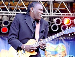 GUITAR HERO :  Bluesman Joe Louis Walker returns to the SLO Vets Hall on Sept. 19. - PHOTO COURTESY OF JOE LOUIS WALKER