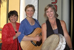LADIES NIGHT :  Women on the Move—(left to right) Joan Enguita, Trish Lester, and Linda Geleris—a trio of Los Angeles area singer/songwriters, play March 16 at the Oak Creek Commons in Paso Robles. - PHOTO COURTESY OF WOMEN ON THE MOVE