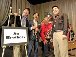 AU YEAH!:  The Au Brothers are one of 24 acts playing Jubilee by the Sea, Oct. 22 through 25, in Pismo Beach. - PHOTO COURTESY OF THE AU BROTHERS