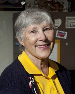 GAIL LIGHTFOOT :  The local Libertarian passed the citizenship test with flying colors—and why shouldn't she? She keeps three copies of the Constitution in her house and car. - PHOTO BY STEVE E. MILLER
