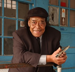 """HE'S THE MAN! :  James """"Superharp"""" Cotton, the Grammy Award-winning musician who was inducted into the Blues Hall of Fame in 2006, the Smithsonian Institute in 1991, and won countless W.C. Handy Blues Awards over his long and venerated career, plays March 13 in Cal Poly's Alex & Faye Spanos Theatre. - PHOTO COURTESY OF JAMES COTTON"""