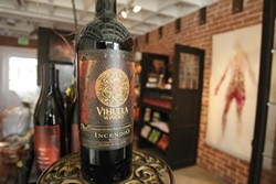 INCENDIARY INCENDIO :  Vihuela's signature wine is named for a Spanish guitar band with a Bohemian vibe. - PHOTO BY STEVE E. MILLER