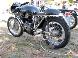 MOTORCYCLE MADNESS :  Sweet vintage bikes, like this customized British Vincent, will be on display at the Central Coast Classic Motorcycle Club's second annual SLO Classic Motorcycle Rally, Oct. 7-10, which benefits Woods Humane Society. - PHOTO COURTESY OF THE CENTRAL COAST CLASSIC MOTORCYCLE CLUB