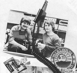 PARTNERS IN CRIME:  Cliff Branch (right), and his first business partner Tom Spalding, made a bundle with their Warehouse Sound Co. mail-order stereo component business located in Railroad Square while they were both Cal Poly students. - PHOTO COURTESY OF CLIFF BRANCH