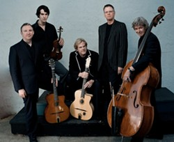 GUITAR GREAT!:  The John Jorgenson Quintet plays Castoro Cellars on July 20 for a SLOfolks concert. - PHOTO COURTESY OF THE JOHN JORGENSON QUINTET