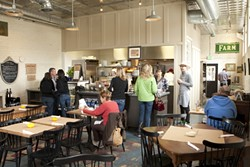 BRIGHT AND AIRY :  Bell St. Farm offers nice, open, family-style dining inside and a large patio in the back for devouring their delicious food. - PHOTOS BY STEVE E. MILLER