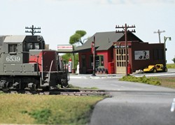 THE LITTLE TRAIN THAT COULD :  Dioramas, like this one featuring an HO-scale train, will fill the Oceano Depot on Jan. 29 and 30. - PHOTOS BY DENNIS PEARSON