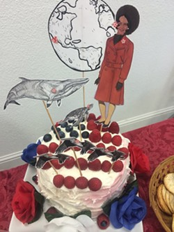 A cake bearing Heidi Harmon's likeness. - PHOTO  COURTESY OF HEIDI HARMON