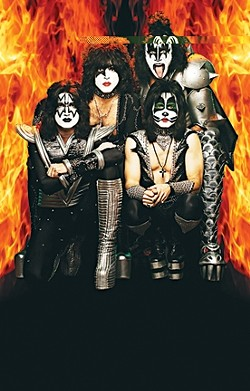 DETROIT ROCK! :  Costumed, theatrical, extra-awesome glitter-rock act Kiss plays the Mid-State Fair on July 28. - PHOTO COURTESY OF THE CALIFORNIA MID-STATE FAIR