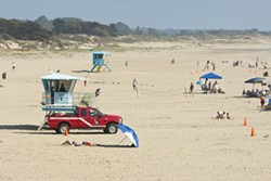 OUTSOURCED:  Pismo Beach pays San Luis Obispo County to provide fire service and enforce its burning laws on its beachfront, which the city leases from the State of California. - PHOTO BY STEVE E. MILLER