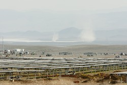 THE DUSTY TRAIL :  To mitigate health hazards from dust kicked up by vehicle traffic in the California Valley area, solar companies need a lot of water for roads. However, some groundwater supplies aren't producing as expected. - FILE PHOTO BY STEVE E. MILLER