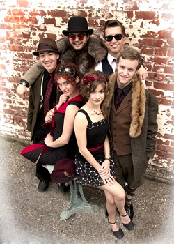 VERY VINTAGE :  The Red Skunk Jipzee Swing Band performs in a benefit concert for Hospice SLO at Castoro Cellars on Sept. 3, along with the Tipsy Gypsies. - PHOTO COURTESY OF RED SKUNK JIPZEE SWING BAND