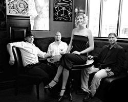 HEART THIEVES :  (left to right) Forrestt Williams, Matt Reeder, Hillary Langdon, and Toan Chau are the Tipsy Gypsies, a Gypsy jazz quartet playing March 20 at the Clubhouse and March 28 at Gina's Coffee Shop. - PHOTO BY STEVE E. MILLER