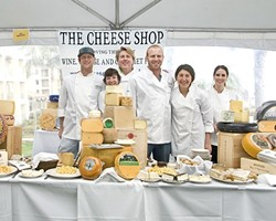 GETTING GOUDA :  World of Pinot Noir is a celebration of wine, as well as more solid culinary delights, boasting vendors like The Cheese Shop. - PHOTO COURTESY OF WORLD OF PINOT NOIR